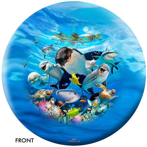 OTBB Ocean Pals Selfie Bowling Ball front