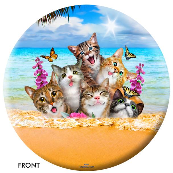 OTBB Cats Selfie Bowling Ball front