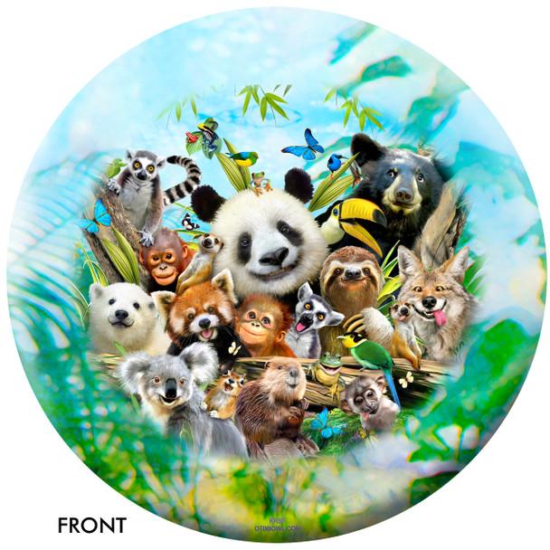 OTBB Zoo Friends Selfie Bowling Ball front