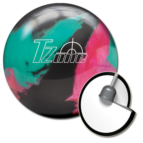 Brunswick Target Zone Razzle Dazzle Bowling Ball and core