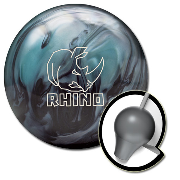 Brunswick Rhino Bowling Ball and Core - Metallic Blue/Black