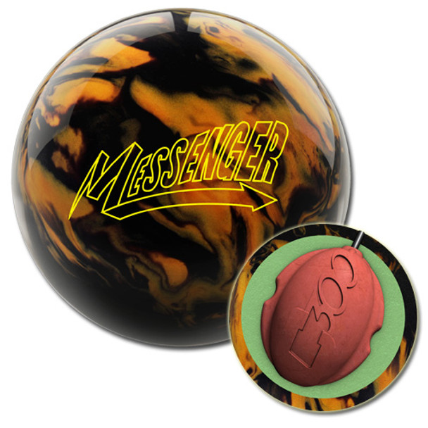 Columbia 300 Messenger Black/Gold Bowling Ball and core