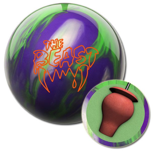Columbia 300 Beast Purple/Lime/Silver Bowling Ball and core