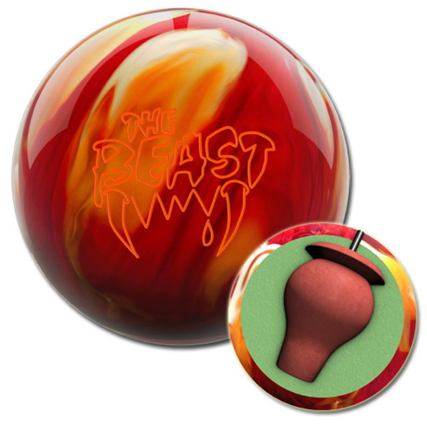 Columbia 300 Beast Cherry/Gold/White Bowling Ball and core