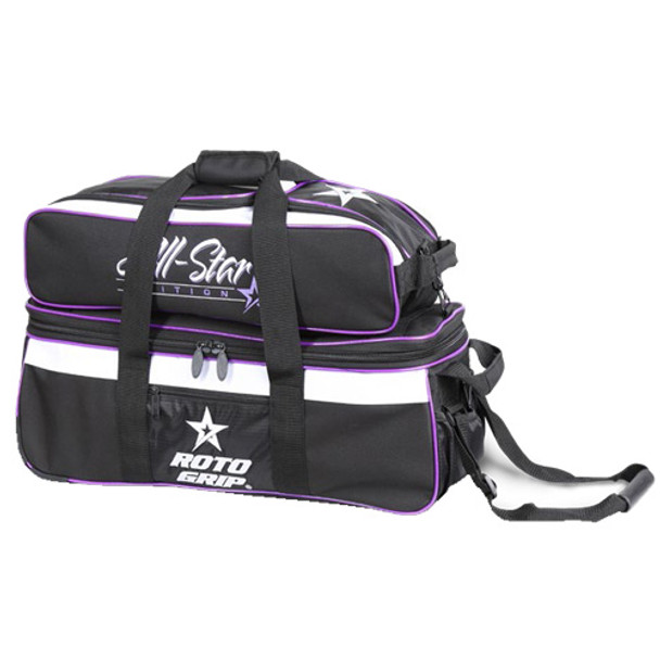 Roto Grip 3 Ball All-Star Edition Carryall Tote - Black/White/Purple