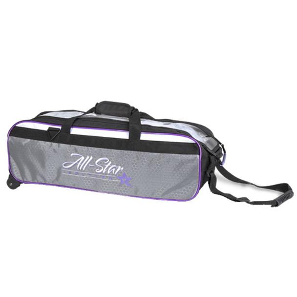 Roto Grip 3 Ball All-Star Edition Travel Tote - Black/White/Purple