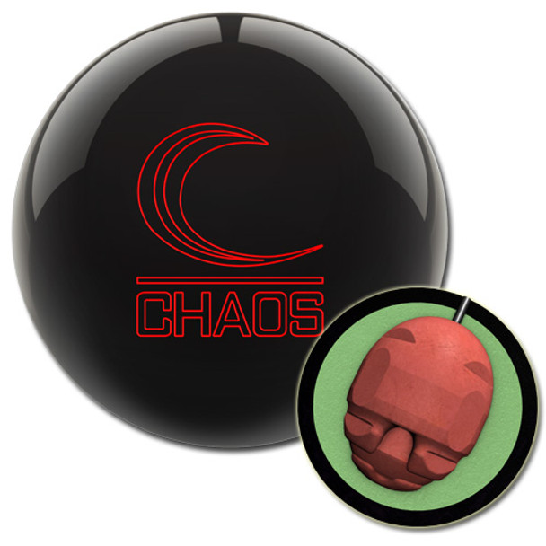 Columbia 300 Chaos Bowling Ball - Jet Black with core