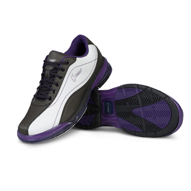 Hammer Lady Force Bowling Shoes White/Black/Purple Right Handed setup