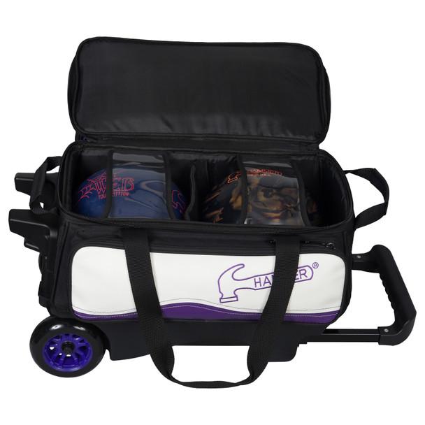 Hammer Vibe 2-Ball Roller Purple/White ball detail