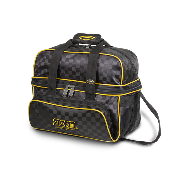 Storm 2 Ball Tote Deluxe Checkered Black/Gold