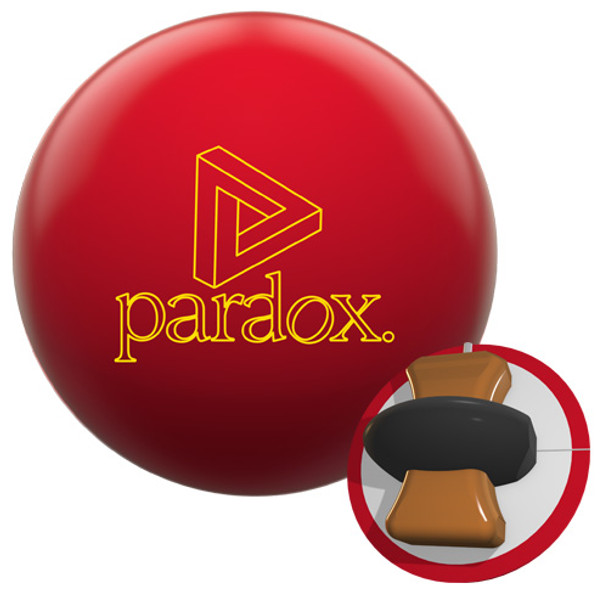 Track Paradox Red Bowling Ball and Core