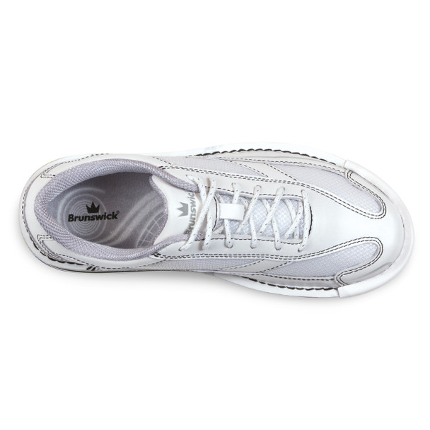 Brunswick Team Brunswick Womens Bowling Shoes - White - Right Handed - top of shoe
