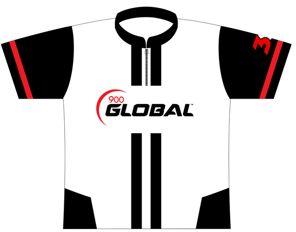 900 Global Bowling Jersey by Logo Infusion - 01579G - Front of Jersey