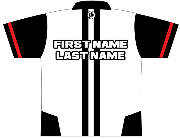 900 Global Bowling Jersey by Logo Infusion - 01579G - Back of Jersey with Sample Text