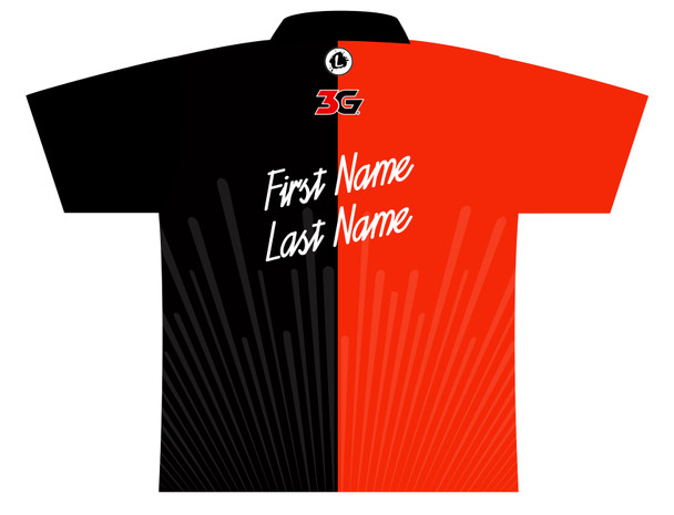 900 Global Bowling Jersey by Logo Infusion - 03039G - Back of Jersey with Sample Text