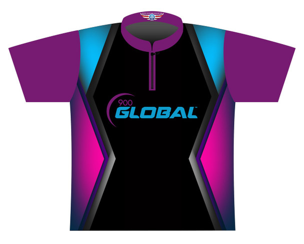 900 Global Bowling Jersey by Logo Infusion - 05029G - Front of Jersey