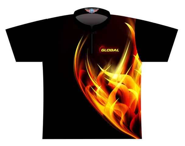 900 Global Bowling Jersey by Logo Infusion - 05749G - Front of Jersey