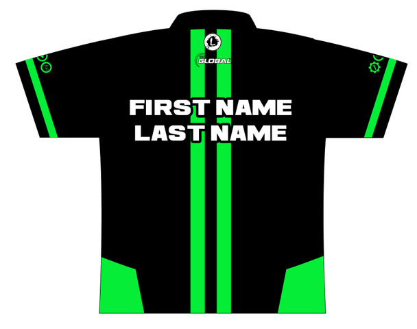 900 Global Bowling Jersey by Logo Infusion - 06489G - Back of Jersey with Sample Text