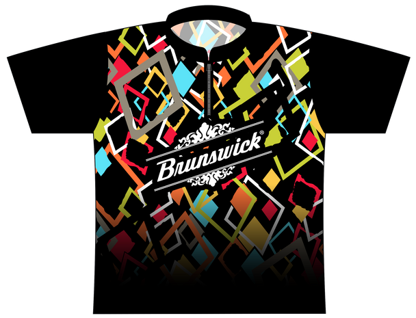 Brunswick Bowling Jersey by Logo Infusion - 0159BR - Front of Jersey