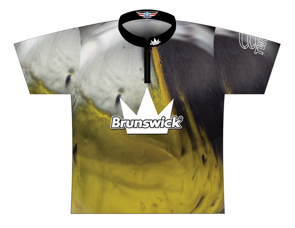 Brunswick Bowling Jersey by Logo Infusion - 0290BR - Front of Jersey