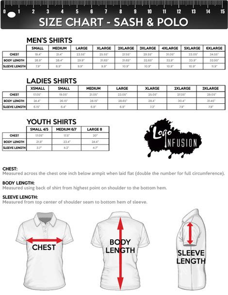 Size Chart for Sash and Polo Collar
