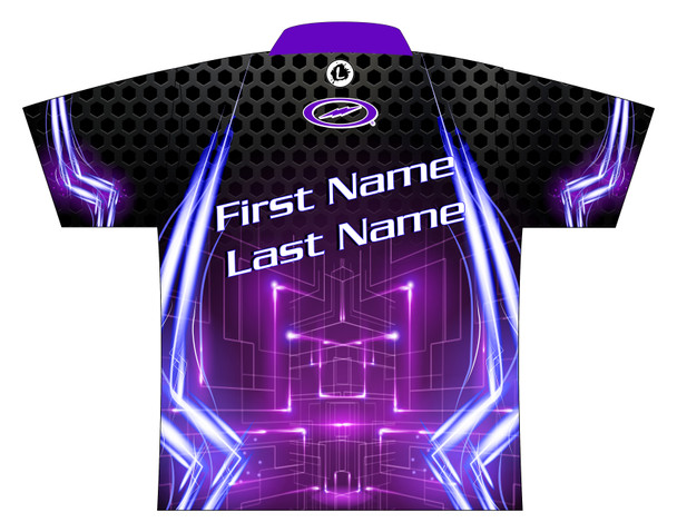 Storm Dye Sublimated Bowling Shirt - Style 0245ST - Back of Jersey with Sample Text