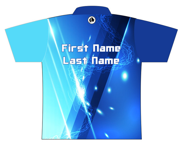 Storm Dye Sublimated Bowling Shirt - Style 0253ST - Back of Jersey with Sample Text