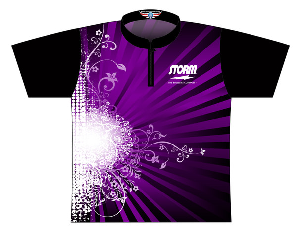 Storm Dye Sublimated Bowling Shirt - Style 0366ST - Front of Jersey with Storm Logo