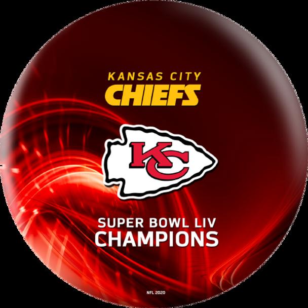 OTTB Kansas City Chiefs Bowling Ball Super Bowl 54 Champions - Red - Back