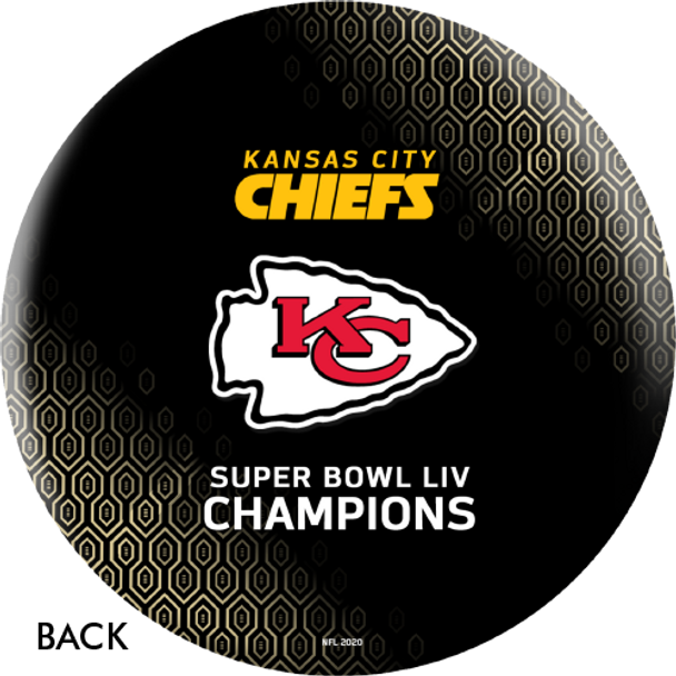 OTTB Kansas City Chiefs Bowling Ball Super Bowl 54 Champions - Black - Back