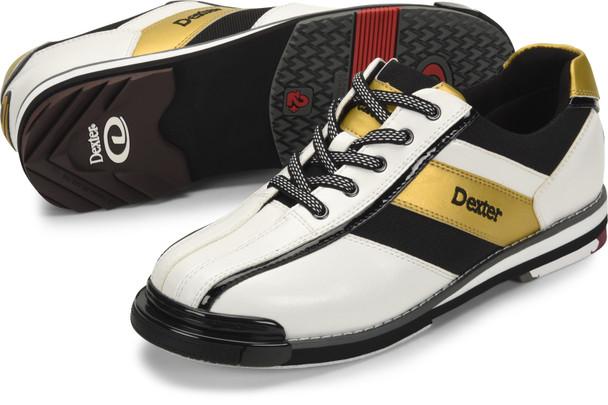 Dexter SST 8 Pro Mens Bowling Shoe White/Black/Gold