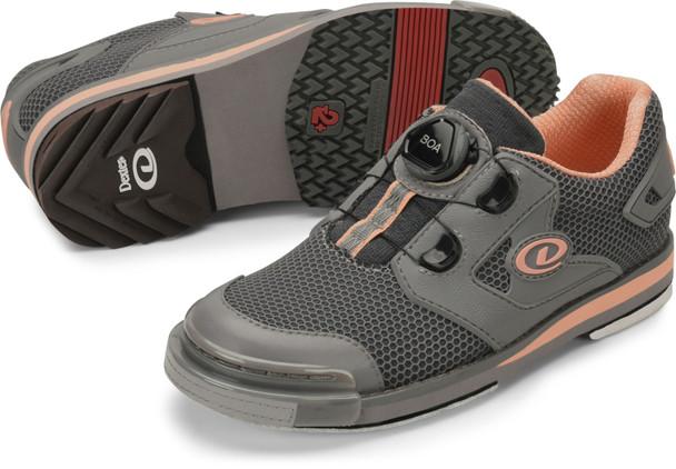 Dexter Womens THE 8 Power-Frame Boa Bowling Shoes Grey/Peach