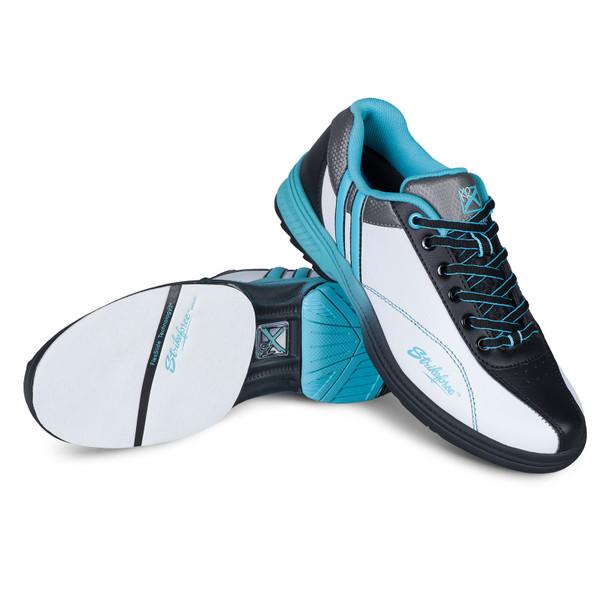 KR Strikeforce Satin White//Pink Womens Bowling Shoes