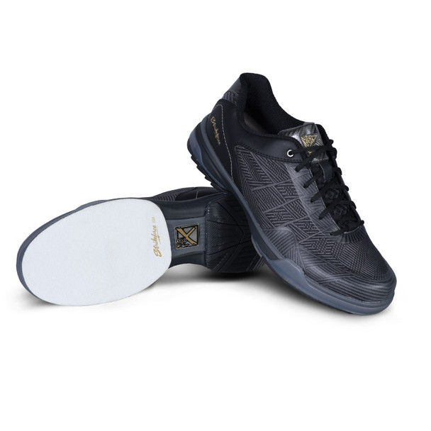 KR Strikeforce Rage Mens Bowling Shoes Left Hand - Gunmetal/Black