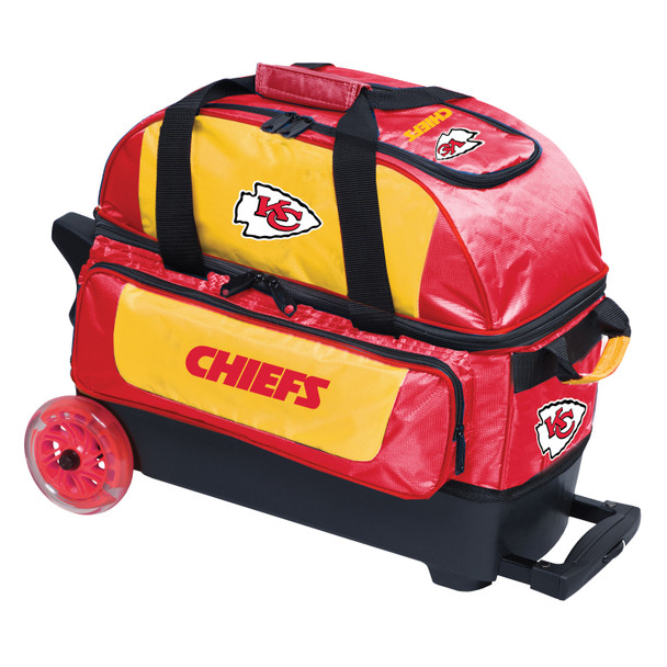 KR Strikeforce NFL Kansas City Chiefs 2 Ball Roller Bowling Bag