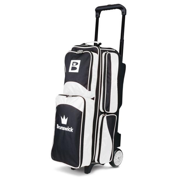 Brunswick Edge Triple Roller Bowling Bag - White