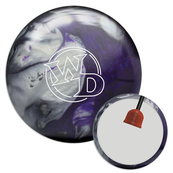 Columbia 300 White Dot Black/Purple/Silver Bowling Ball and Core