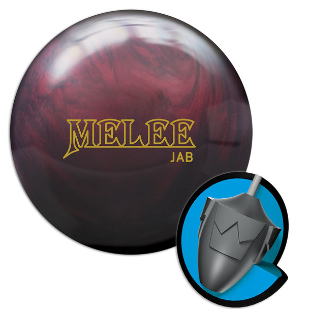 Brunswick Melee Jab Blood Red Bowling Ball and Core