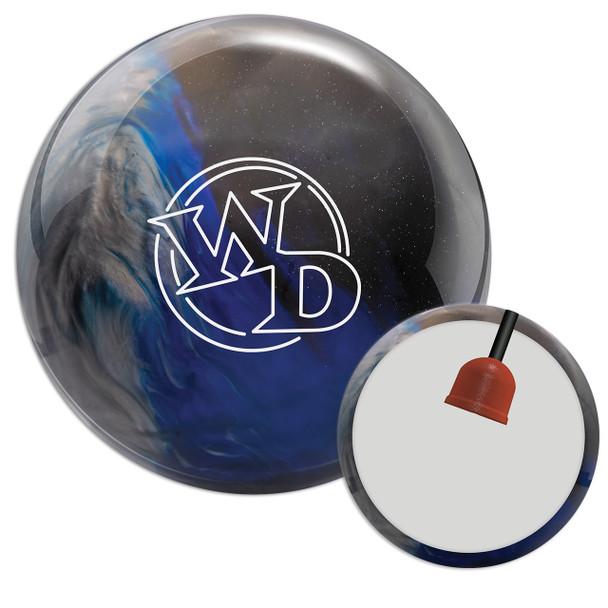 Columbia 300 White Dot Blue/Black/Silver Bowling Ball