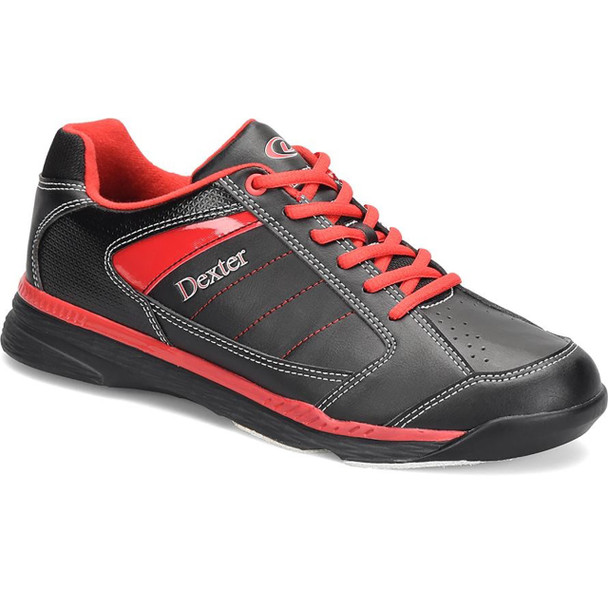 Dexter Ricky IV Mens Bowling Shoes Black/Red Trim WIDE