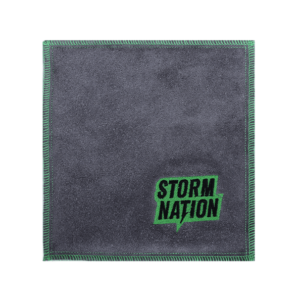 Storm Nation Shammy - Green/Gray Stitching