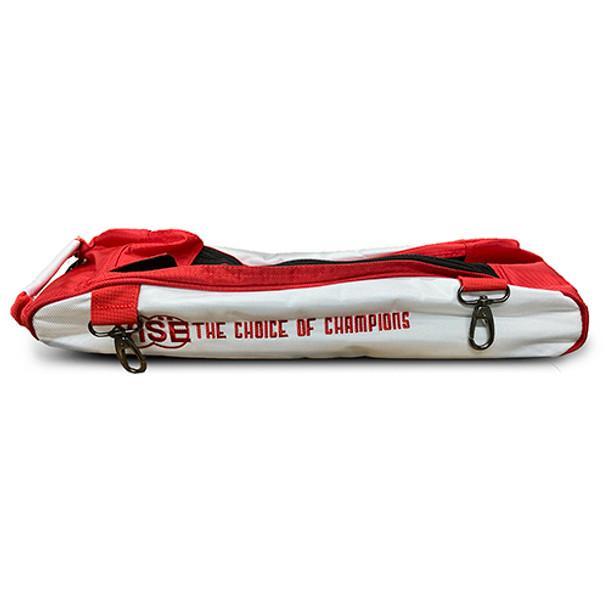 Vise Triple Roller Bowling Bag - Shoe Topper - Red/White