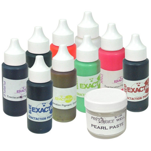 Vise Inserts Rapid Cure Color Dye Kit for plugging bowling balls.