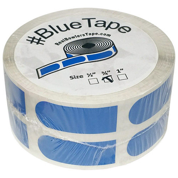 """The Real Bowler's Tape Blue Smooth 3/4"""" Bowling Tape - 500 Piece Roll"""
