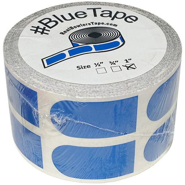 """The Real Bowler's Tape Blue Smooth 1"""" Bowling Tape - 500 Piece Roll"""