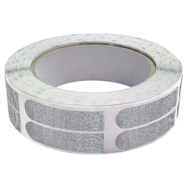 """The Real Bowler's Tape Silver Textured 1/2"""" Bowling Tape - 500 Piece Roll"""