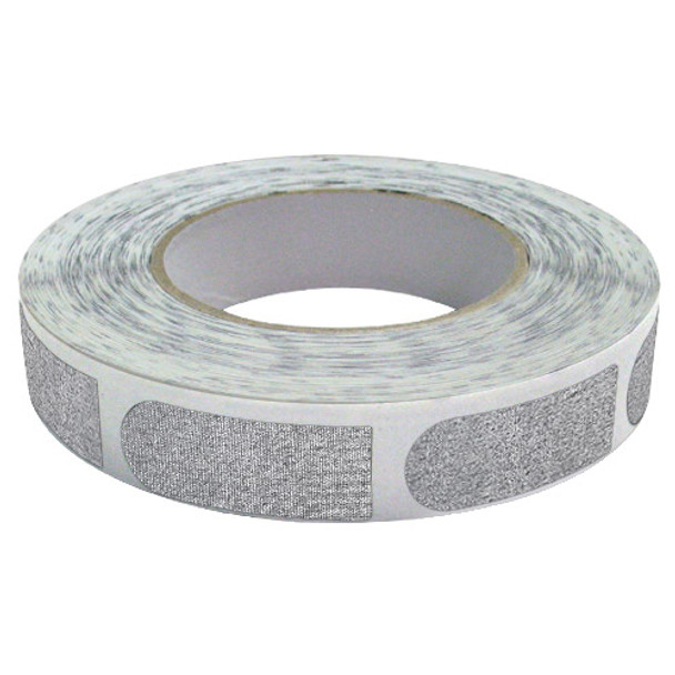 "The Real Bowler's Tape Silver Textured 3/4"" Bowling Tape - 500 Piece Roll"