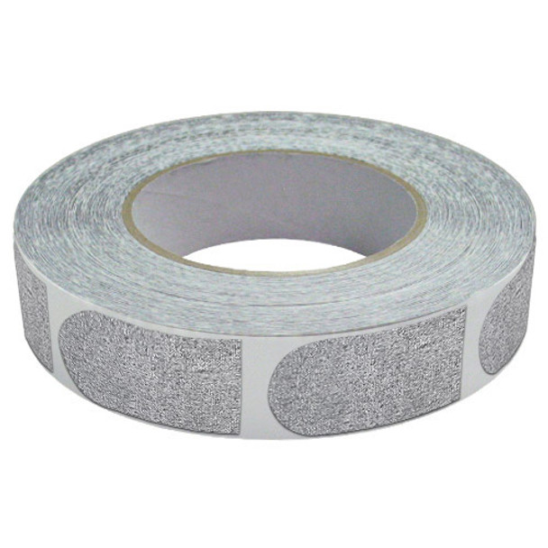 """The Real Bowler's Tape Silver Textured 1"""" Bowling Tape - 500 Piece Roll"""