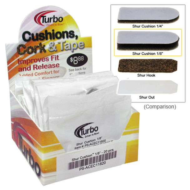 "Turbo Shur Cushion - 1/8""- 20 Piece Box"