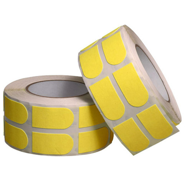 """Turbo Neon Yellow Textured Grip Strips 1"""" Bowling Tape - 500 Roll Bulk Roll"""